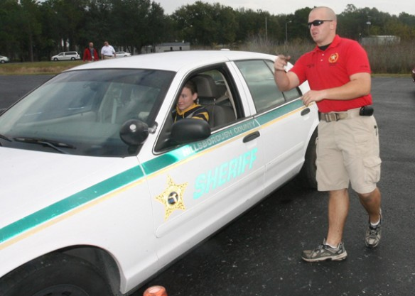 Sheriff Hosts Teen Driver Challenge