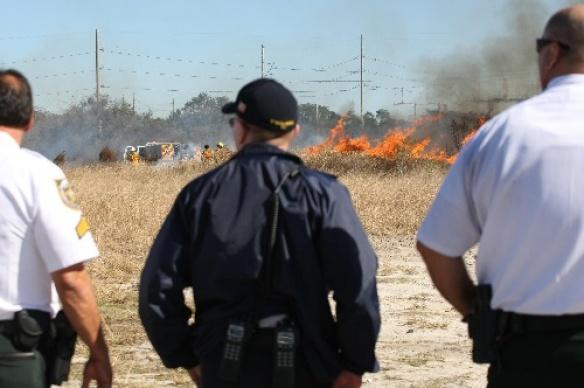 Fire Crews Battle Brush Fire Near FishHawk Businesses and Homes