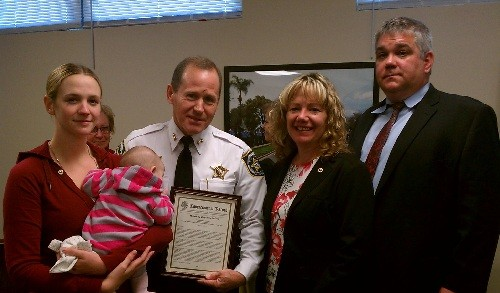 Sheriff Gee Receives Congressional Commendation for Fallen Hero Escorts