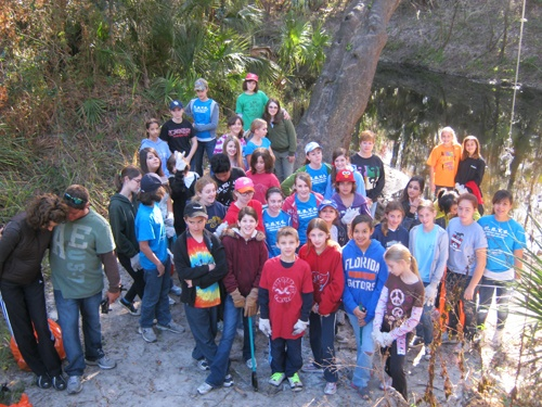 Randall Students Help Clean Up Alafia River and Lithia Springs Park
