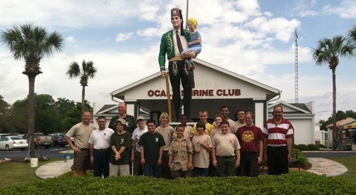 Local Boy Scout Troop Helps Special Needs Scout Complete Eagle Scout Project