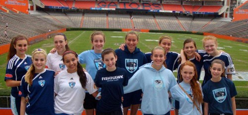 FishHawk U15 Girls Team Competing All Over Florida
