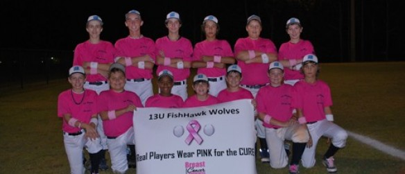 FishHawk Baseball Players Give Back