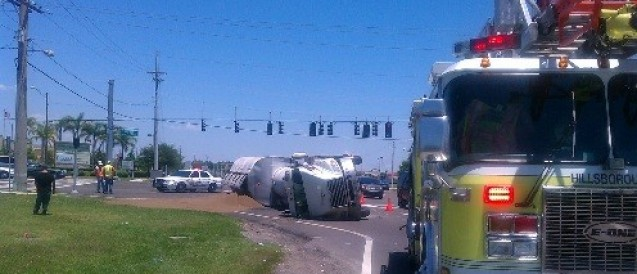 Tractor Trailer Crash on US-301 and Big Bend Road