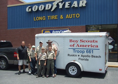 Boy Scout Troop On The Road To Summer Camp Thanks To Long Tire