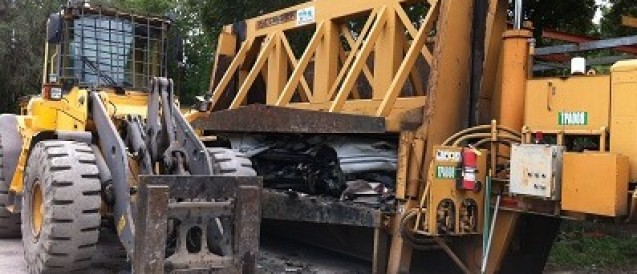 Brandon Auto Salvage Reveals The Crushing Process