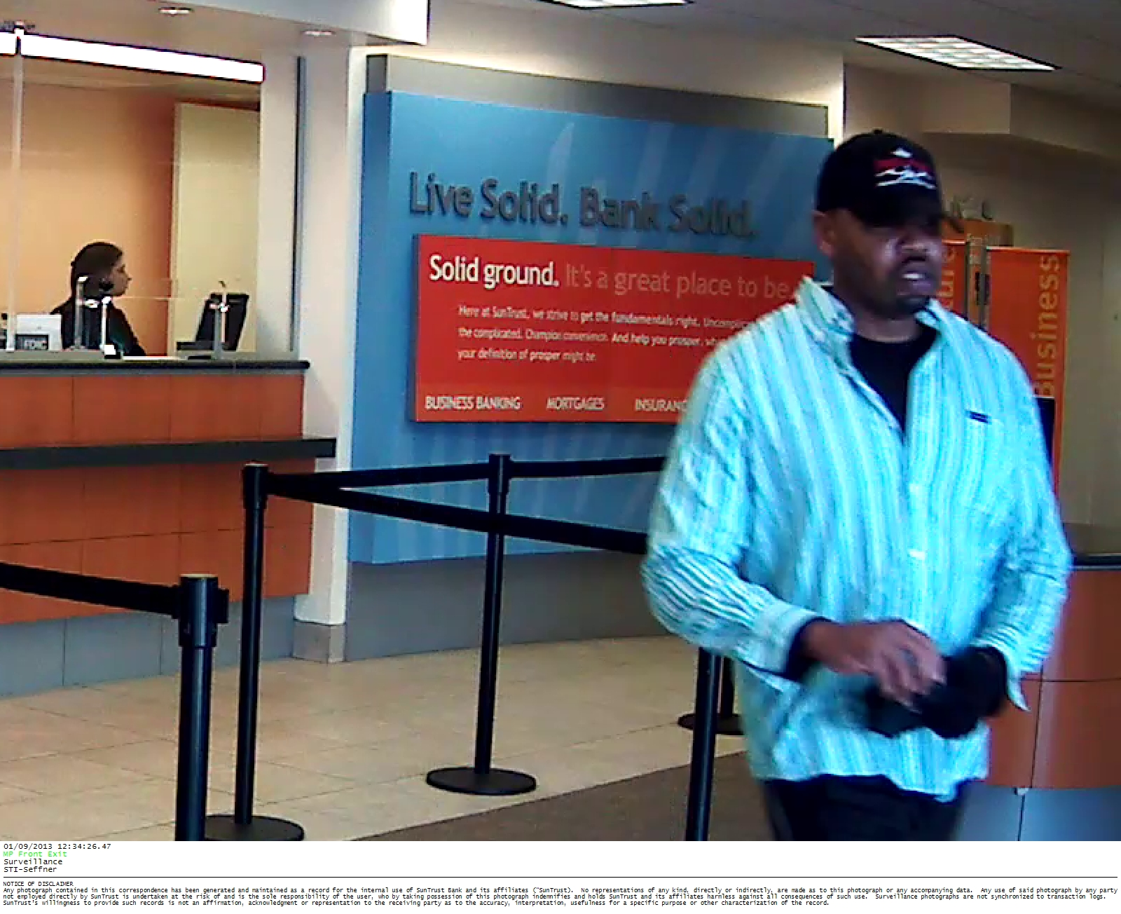SunTrust Bank Robbery Surveillance Photo #4