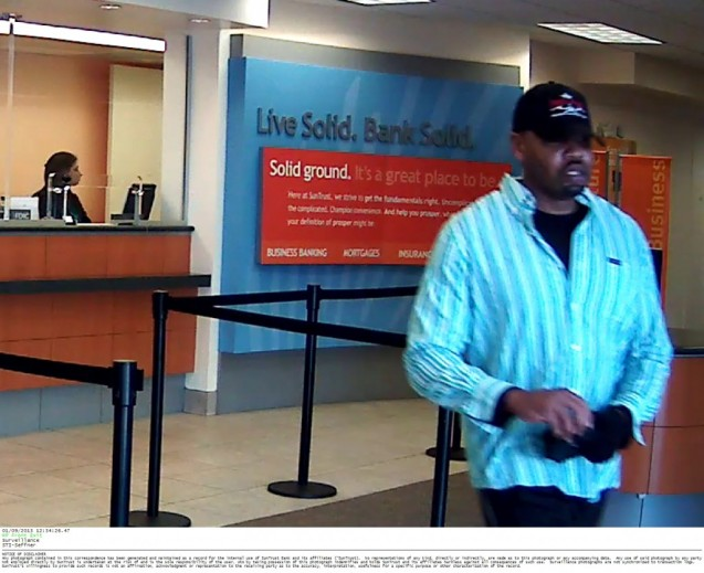 HCSO Search for Suspect In Two Bank Robberies Within Minutes Of Each Other