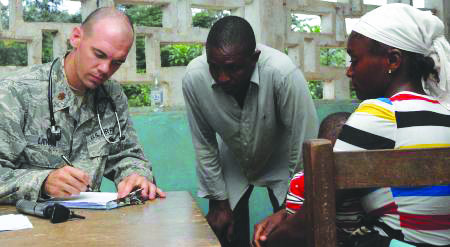 Brandon Soldier Helps Employ Training During Medical Outreach Mission In Liberia