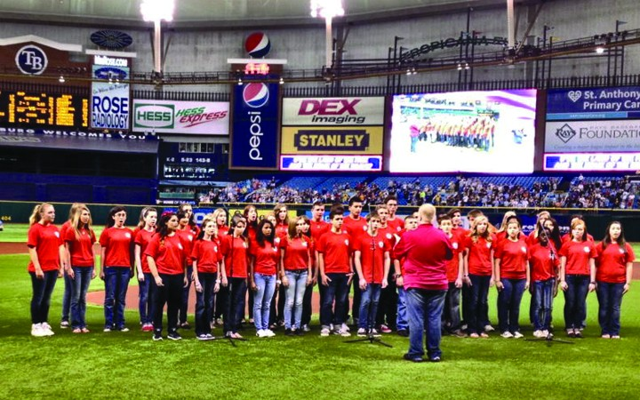 Bloomingdale Chorus Begins School Year On A High Note At Rays Game