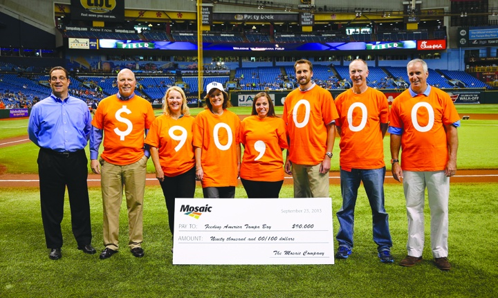 Mosaic Home Runs For Food Partnership Scores $90,000 For Feeding America Tampa Bay