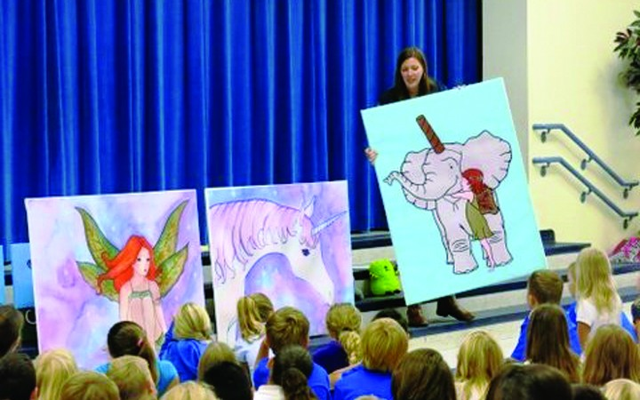 Author & Illustrator Encourages Students To Follow Their Dreams