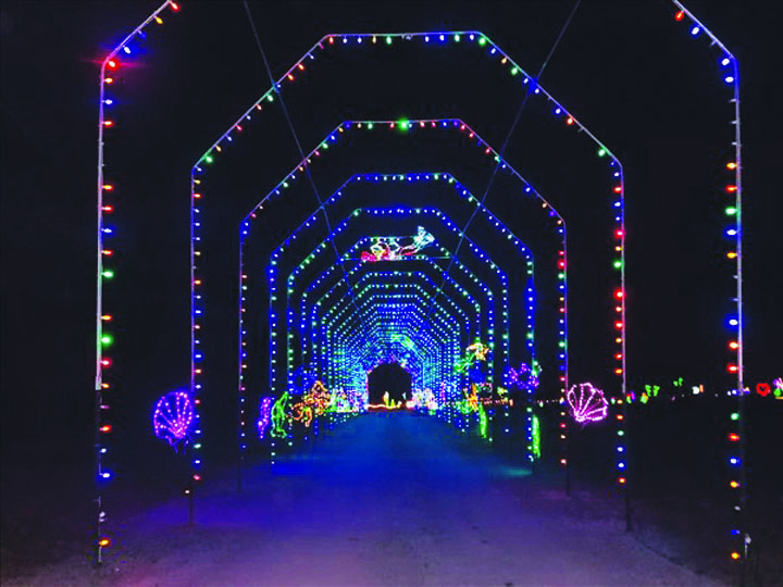 christmas lights drive through tennessee