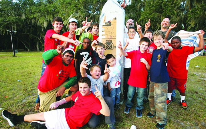 Faces Of Courage Hosts Santa's Workshop At Rotary's Camp Florida