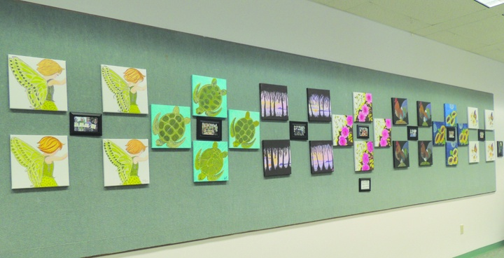 Art Students Work Displayed At Bruton Memorial Library