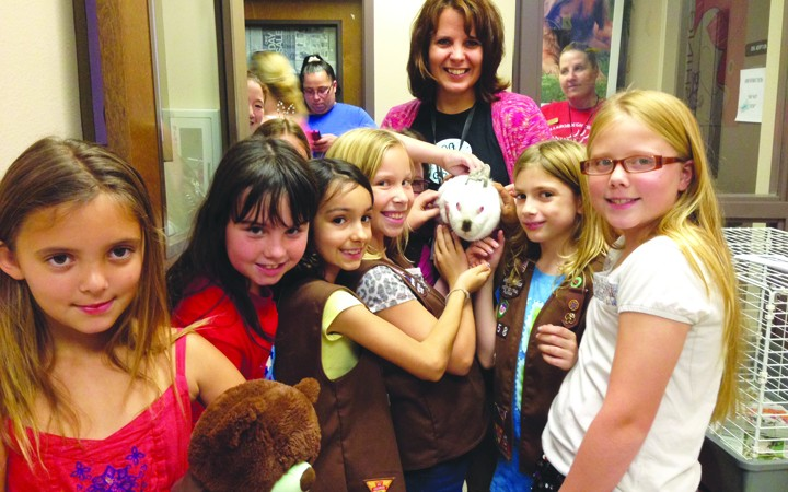 Brownies Make Homemade Toys For Shelter Dogs And Cats At County Facility