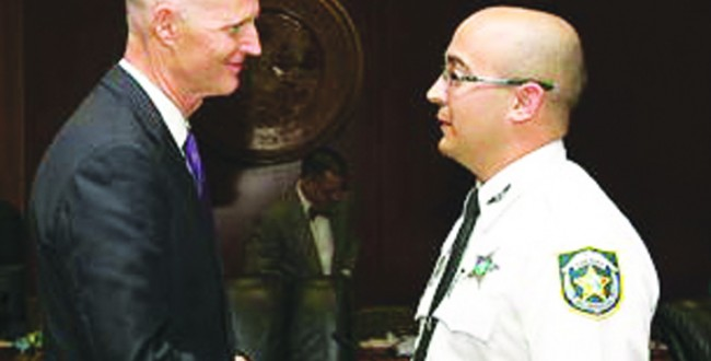 HCSO Deputy Awarded Medal of Heroism By Governor Scott
