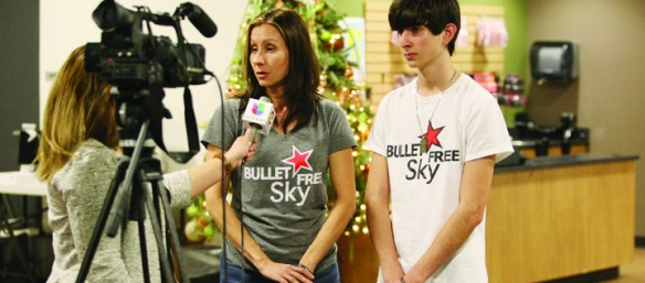 Bullet Free Sky Spreads Billboard Message of Gun Safety Ahead of New Year's Eve Celebration