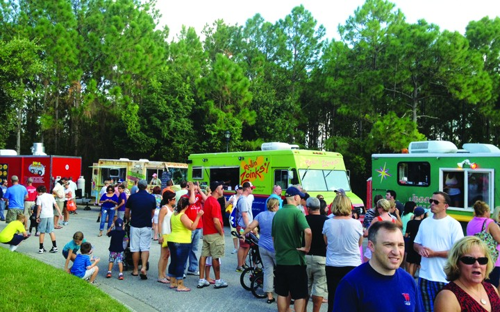 Canned Food Donations Welcome At 15-Truck Food Truck Rally
