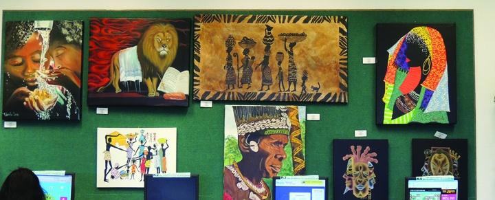Bruton Memorial Library Celebrates Black History Month With Exhibit Of Portrait Artist, Rhonda Carol Long
