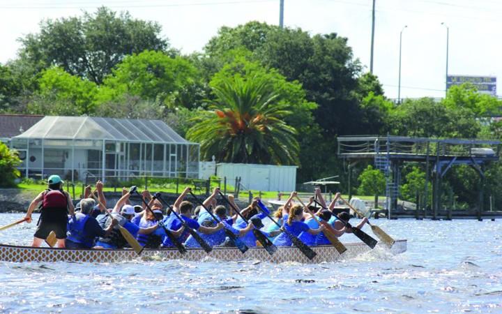 Mira Bay Has Dragon Boat Paddling Club