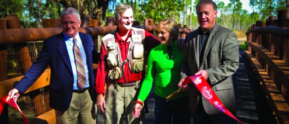 County Hosts Ribbon Cutting To Celebrate Opening Of Lower Green Swamp Preserve
