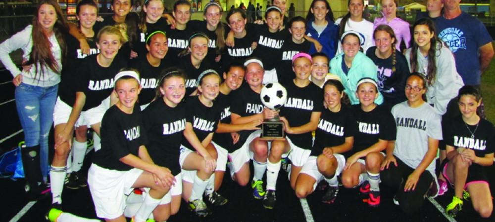 Randall Hawks County soccer champions