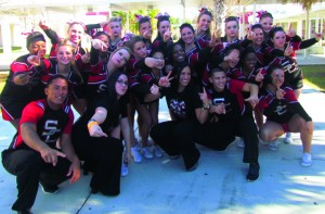 SPORTS_Strawberry Crest Chargers Cheer Squad Western Conference and FHSAA RegionChampions