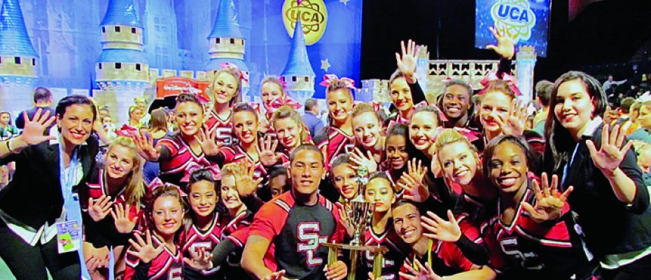 SPORTS_Strawberry Crest Chargers Cheer Squad celebrate its fifth place at UCA competition in Orlando