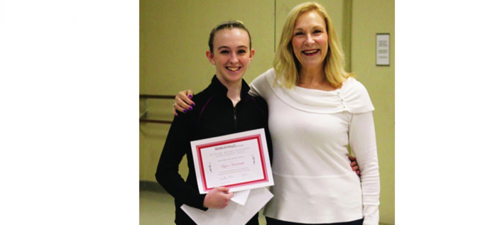 Brandon Ballet Announces Taylor Hardcastle As Scholarship Winner For 2014