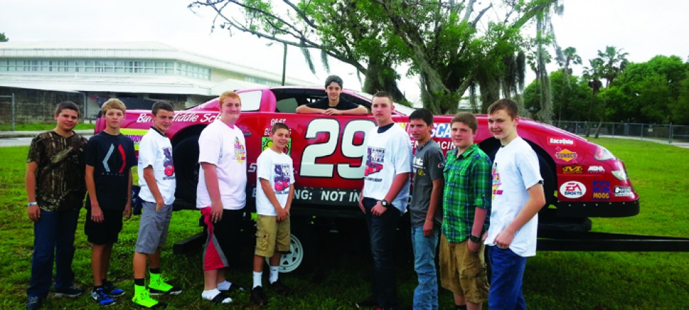 Burns Middle School Students Seek Donations For NASCAR S.T.E.M. Competition