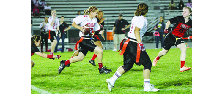 Girls Flag Football Sports Solid Competition At District Playoffs