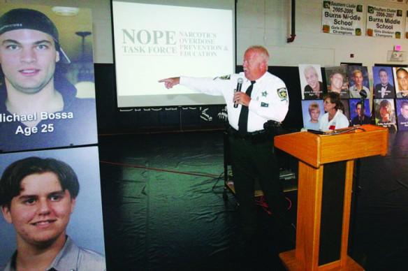 Burns Middle School Hosts Narcotics Overdose Prevention, Education Event