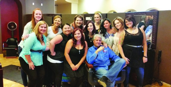 WQYK's Dave McKay Makes Friends At Reflections Hair Gallery And Spa