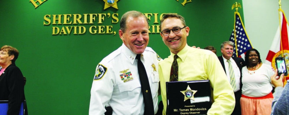 Sheriffs Department Awards Ceremony Honors Osprey Observer's Tamas Mondovics