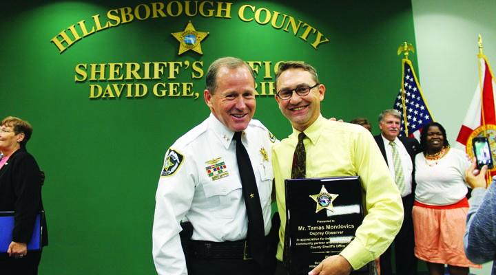 Sheriffs Department Awards Ceremony Honors Osprey Observer's Tamas Mondovics