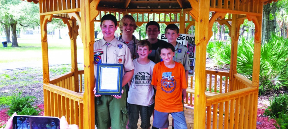 Riverview Resident Builds Gazebo, Butterfly Garden For Eagle Scout Project