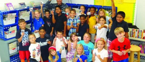 FishHawk Creek Elementary Students Fold Flags For Troops