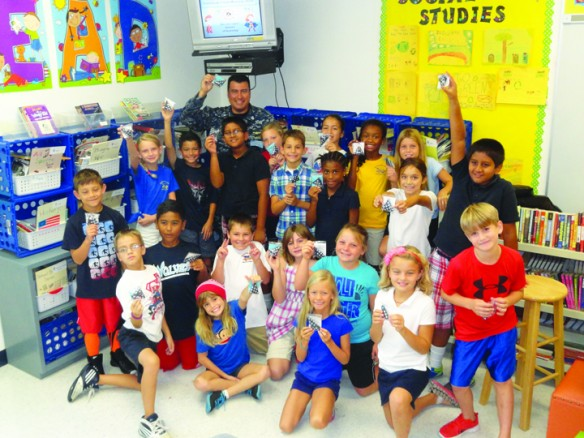 FishHawk Creek Elementary Students Fold Flags For Troops