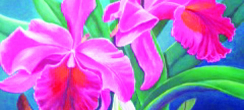 Orchids Painted By Cuban Born Artist, Jossie Azorin, On Exhibit At The Bruton Memorial Library