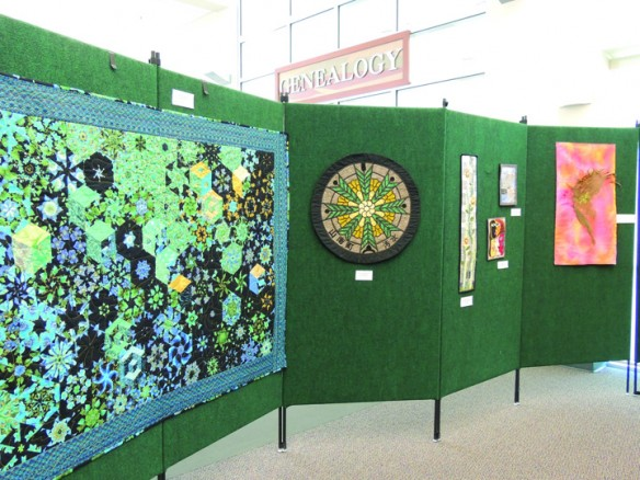 Current Exhibit At Crawford Gallery At The SouthShore Regional Library Showcases Fiber Artwork