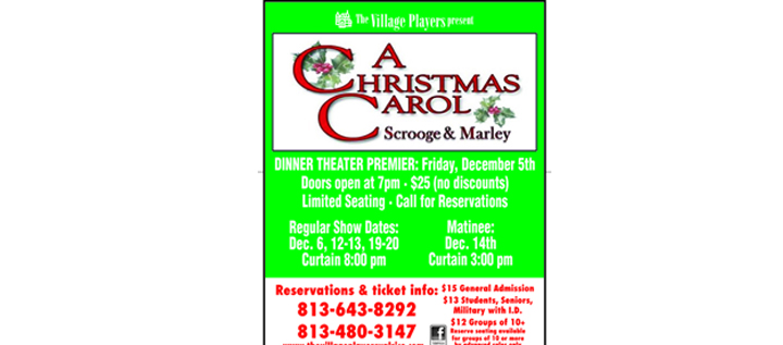 The Village Players Present An Adaptation Of Charles Dickens' A Christmas Carol…Scrooge & Marley