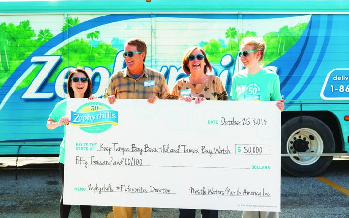 Zephyrhills Brand Natural Spring Water Donates $50,000 To Local Organizations