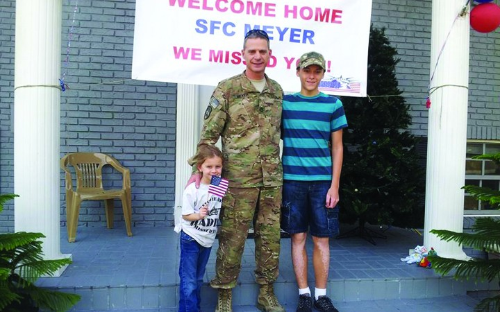 Local Veteran Returns Home From Third Tour To Afghanistan