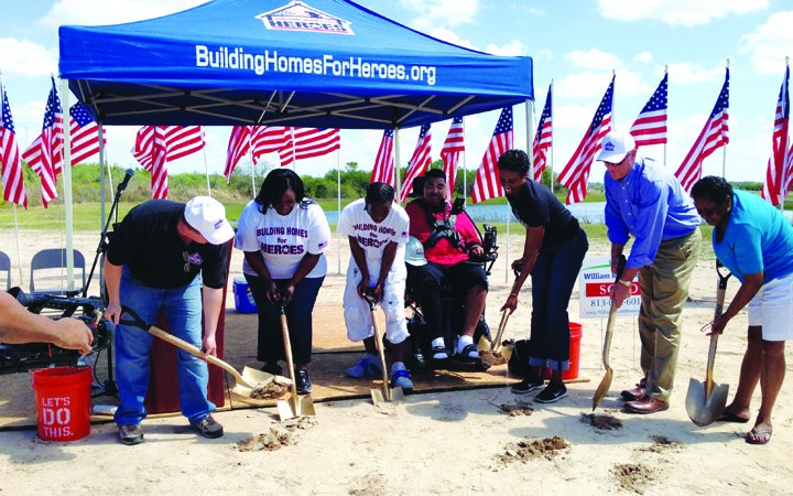 Groundbreaking Takes Place For New Home To Be Built For Wounded Veteran