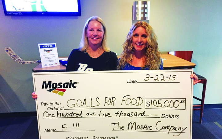 Mosaic Distributes $300,000 To Area Non-Profits Through Goals For Food Initiative With Tampa Bay Lightning