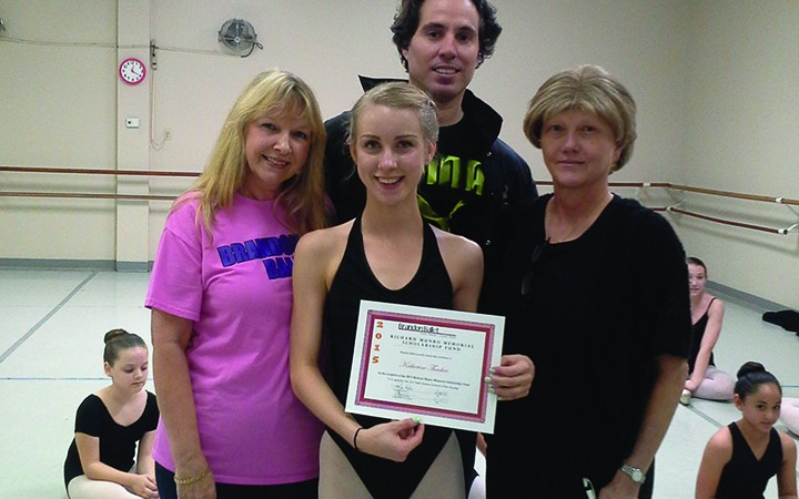 Brandon Ballet Announces Richard Munro Scholarship Winner For 2015