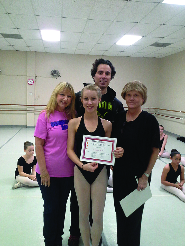 Brandon Ballet Announces Richard Munro Scholarship Winner For 2015