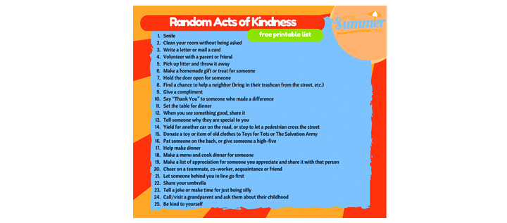 The Ultimate Summer Challenge Of Kindness