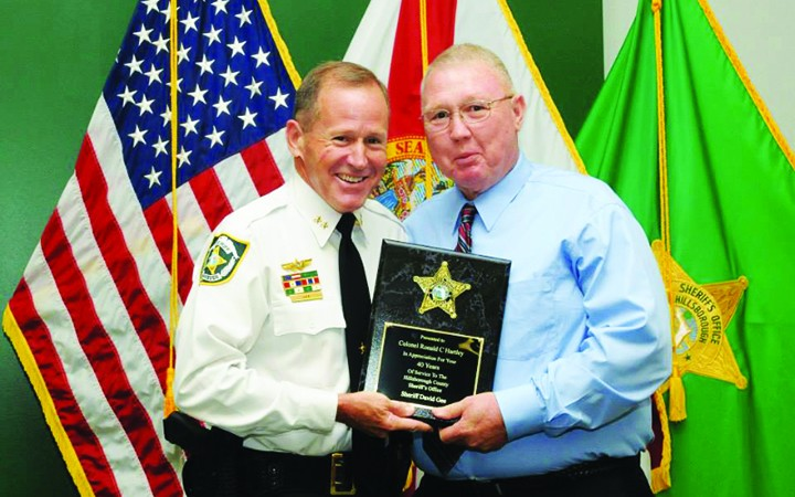 Retired HCSO District 4 Major Recognized During Awards Ceremony